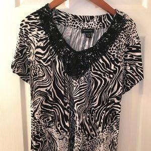 Spence zebra print top